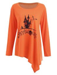 Halloween Date 2014 Nz by Plus Size Happy Halloween Long Asymmetric T Shirt Orange Wave