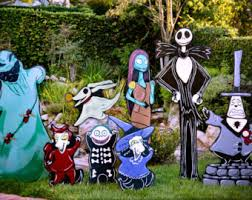 Nightmare Before Christmas Halloween Decorations Diy by Lock Shock And Barrel By Holidaylawncutouts On Etsy Nightmare B4