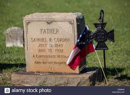 Memorial Day Graveside Decorations by The Grave Marker Of A Civil War Confederate Veteran At Elmwood