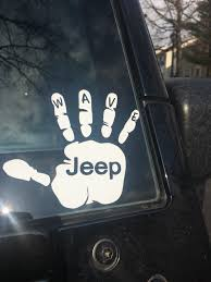 JEEP WAVE STICKER Window Decal Car Truck Adhesive Vinyl Funny ... Got This Truck For My Wife Funny Bumper Sticker Vinyl Decal Diesel Custom Stickers Maker Vistaprint 2018 15103cm Cute Ladybug Car Motorcycle Ideas Diesel Stickers Ebay Window Decals For Cars Harga Produk 185m I Love Boss Window Joke Malaysia Dog Paw Print Suv Aliexpresscom Buy The Shocker Jdm Newest 3d Eyes Peeking Hoods Trunk Thriller New Design 22x19cm Do Not Touch My Car Decorative Aliauto Mickey Mouse Peeping Cover Graphic Decals Amazoncom