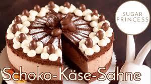 schoko käse sahne torte backen traumhafte ostertorte mit viel schokolade rezept sugarprincess
