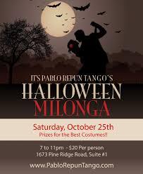 Date Halloween 2014 by Repun Tango Halloween Milonga October 25th Naples Tango