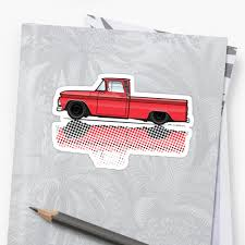 100 63 Chevy Truck 1962 Red C10 Stickers By JRLacerda Redbubble