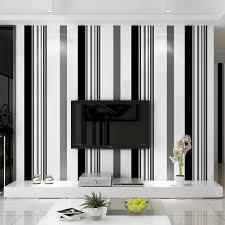 weiß schwarz grau tapete moderne vertikale streifen wand papier tv hintergrund wohnzimmer wand abdeckt wandbild für mädchen jungen schlafzimmer