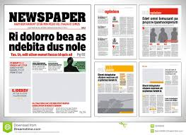 Download Graphical Design Newspaper Template Stock Vector