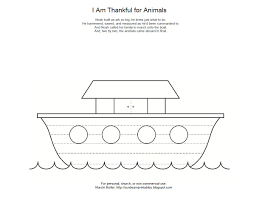 Noahs Ark Coloring Page Animal Cutouts Printable For Lesson 12 Online
