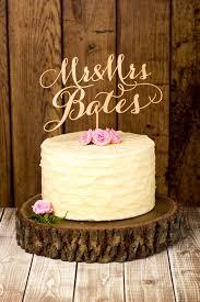 Beautiful Bridal Rustic Wedding Cake Toppers