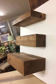 Solid Wood Rustic Floating Shelves