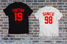 together since shirts matching couples set of t shirts with