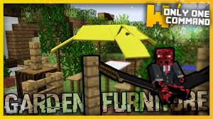 minecraft garden furniture only two command only one command