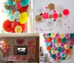 Decorative Wedding Paper Crafts Fan 20 30CM Flower Origami DIY Birthday Party