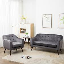 skandinavisch samt kleiner raum sofa sessel wohnzimmer polstersofa 2sitzer