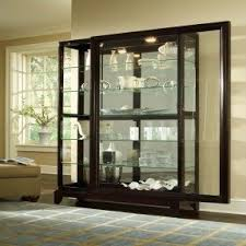 Pulaski Glass Panel Display Cabinet by Pulaski Curio Cabinets Foter