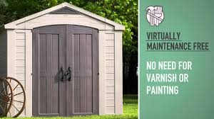 Keter Woodland Storage Box by Keter Factor 8x8 Shed Read The Full Review Garden Shed Ideas