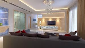 interior modern living room lighting led in bright white shade