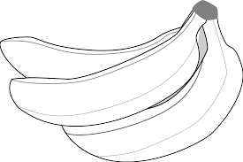 s Banana Clip Art Black And White Medium size