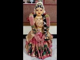 Varalakshmi Vratham Decoration Ideas In Tamil by Saree Drapping For Goddess Varamahalakshmi U0027s Idol Varalakshmi