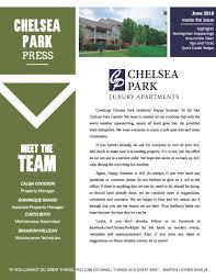 100 Condo Newsletter Ideas The Chelsea Park Apartments Community