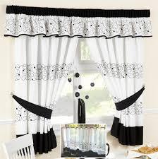 retro black and white kitchen curtains DIY Retro Kitchen