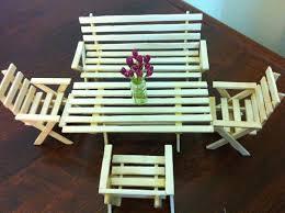 By Diy U Crafts Minis Mini Art And Craft Ideas With Ice Cream Sticks Table