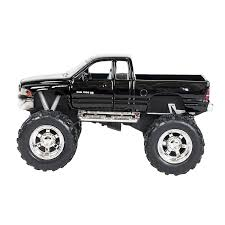Buy Black Dodge Ram Bigfoot With Monster Wheels 5 Inch Die Cast Pull ...