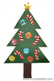 paper christmas tree craft kids crafts firstpalette com