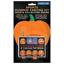 Green Bay Packers Pumpkin by Chicago Cubs Halloween Pumpkin Carving Kit New 6 Patterns Ebay