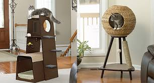 modern cat tower sauder scores big hit with new modern cat furniture line hauspanther