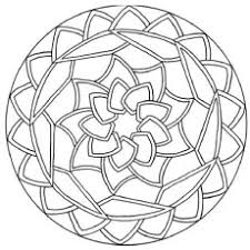 Abstract Of Flower Rangoli Pattern Intricate Web Design To Color Sheet