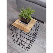 wohnling beistelltisch 35x52x35 cm mango massivholz metall industrial style echtholz wohnzimmer holztisch