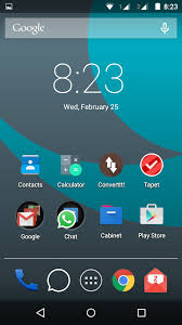 Motorola Moto E with Android Lollipop – Home screen