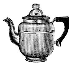 Vintage Kitchen Clip Art Tea Kettle And Coffee Pots
