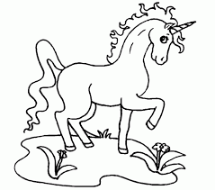 Playing Water Unicorn Coloring Pages