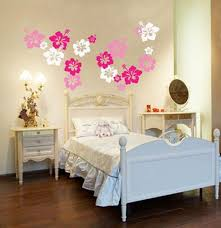 Flowers Wall Ideas Painting For Girls Bedroom