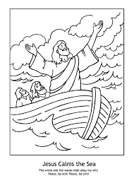 Jesus Calms The Storm Coloring Page Free Printable With Regard To Awesome Along Stunning