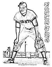 Willie Mays Baseball Player Coloring Page At YesColoring