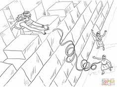 Rahab And The Spies Bible Coloring Pages