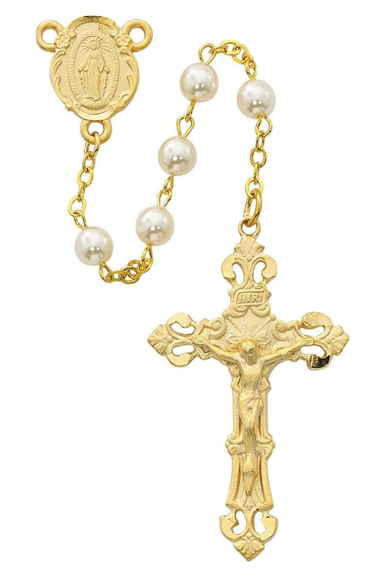 Pearlized Glass Rosary