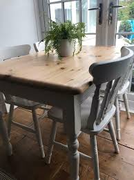 Laura Ashley Painted Farmhouse Table And Chairs | In Yelverton, Devon |  Gumtree 30 Best Ding Room Decorating Ideas Pictures Of Diy Projects Chalk Paint Table Makeover Sarah Joy How I Used An Old Wood Ding Table Outside Songbird Painted Sets Great Fniture Trading Company And Chairs Hand Mexican Ikea Bentleyblonde Farmhouse Set About Bench Igpeuk Artime Farmhouse And 4 Chairs 180cm X 91cm Rustic Oak Painted In Wimborne White