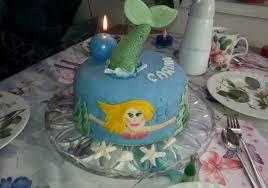 meerjungfrau torte mit kastaniencreme