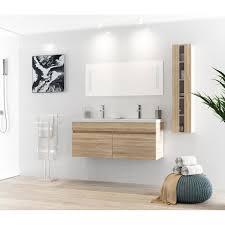 meuble salle de bain 1 vasque naturel achat vente meuble salle