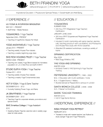 Resume Samples For Yoga Teachers Fresh Prandini Resumes Nardellidesign Sample With
