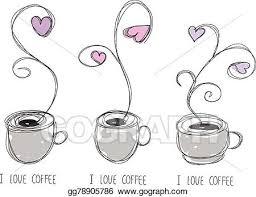 Coffee Mug With Smoke And Heart Han