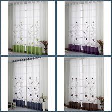 gardinen vorhänge wohnzimmer dekogardinen stores bestickt