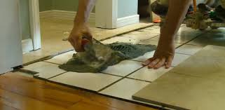 how to lay tile over a tile floor today s homeowner