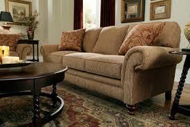 Broyhill Laramie Sofa Fabric by Larissa Golden Brown By Broyhill
