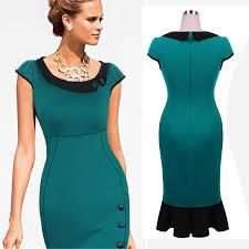 modele de robe de bureau 2015 mode printemps été femmes vêtements de travail bureau robe
