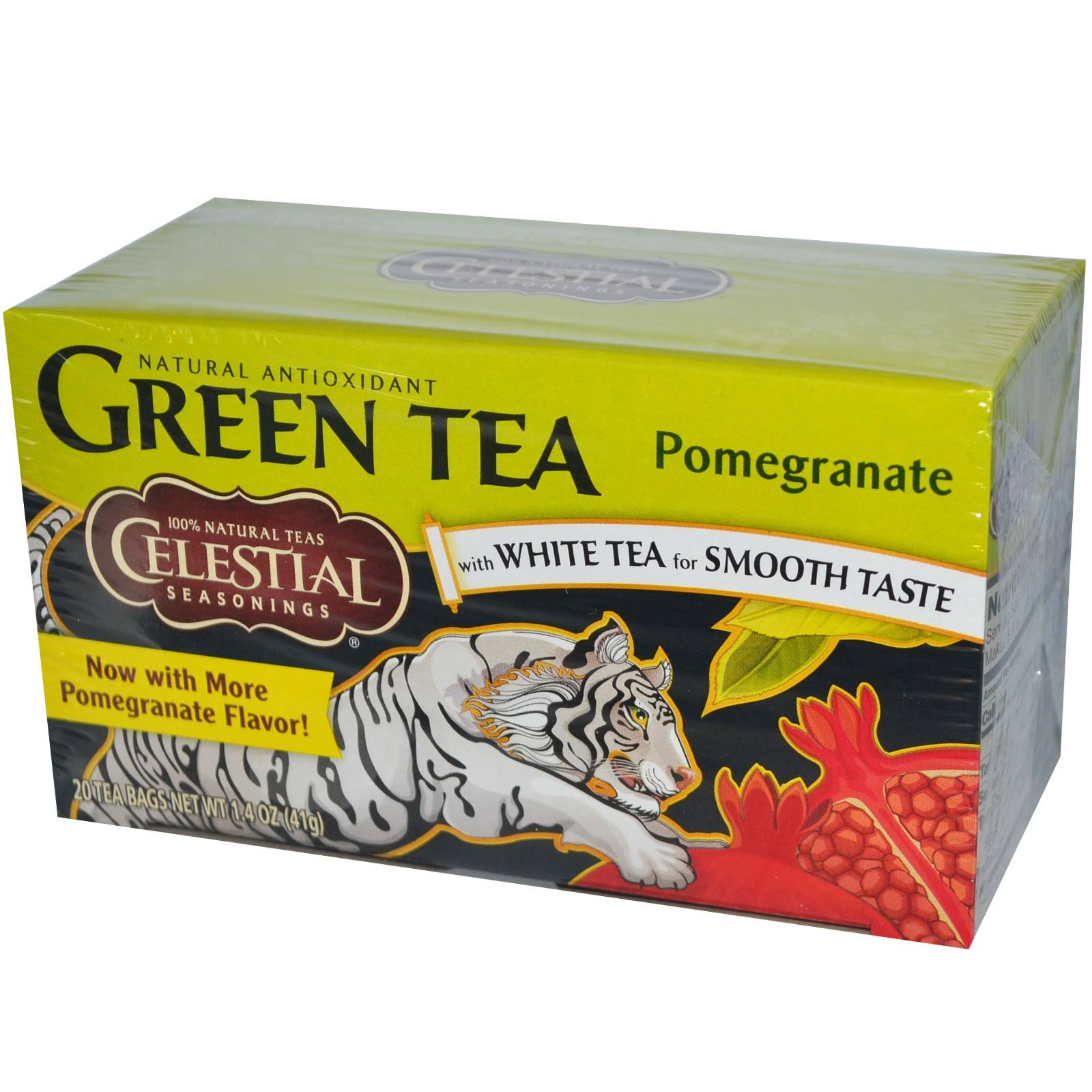 Celestial Seasonings Goji Berry Pomegranate Green Tea - 20 Tea Bags