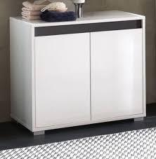 waschbeckenunterschrank weiss hochglanz lack und grau badschrank badmöbel sol 67x60 cm