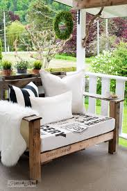 Perfect Black And White Themed Sign Stenciled Fabric For The Pallet Wood Chairs Subway Style With